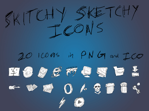 Skitchy_Sketchy_Icon_Set