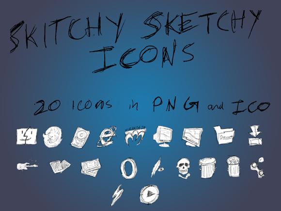 Skitchy_Sketchy_Icon_Set