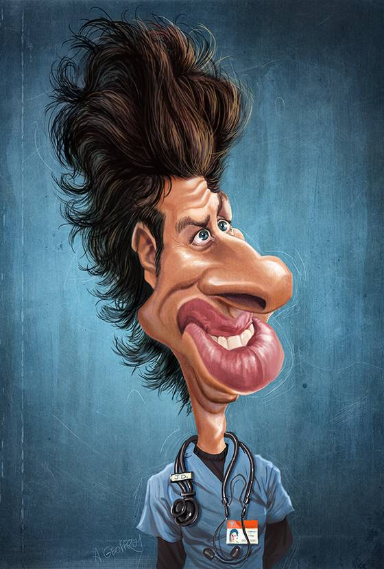 Caricaturas de Celebridades por Anthony Geoffroy
