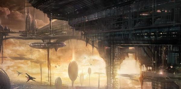 Cidades futurísticas ilustradas